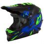 Capacete Infantil Motocross Trilha Blue/green Pro Tork