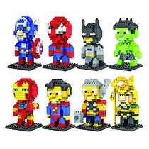 Encanto Regalo 8 Set Loz Diamante Bloques De Iron Man, Capi