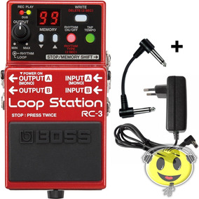 Pedal Boss Rc3 Loop Station 99 Memórias Rc 3 Usb + Fonte
