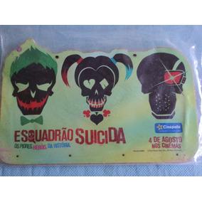 Porta-chave:esquadrão Suicida:dc Comics:novo:lacrado:madeira