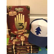 Diario Libro Gravity Falls Original 3 + Gorro Dipper + Bolsa