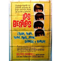The Beatles Afiche Poster Pelicula Hard Days Night 1964