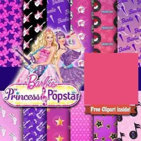 Kit Scrapbook Digital Barbie Pop Star