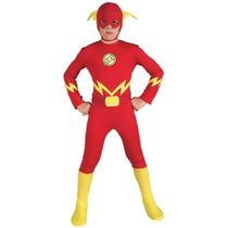 Traje De Liga De La Justicia El Flash Del Niño, Grande