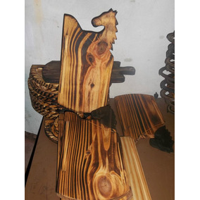 Tablas De Asado Forma De Caballo,en Madera