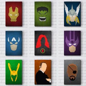 Placas Decorativas Mdf - Vingadores Avengers Heróis Marvel