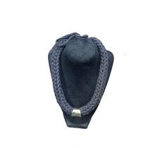 Collar Tejidos Trapillo Negro Crochet Joyeria