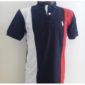 Camisa Playera Polo Ralph Lauren Negro Blanco Rojo Hombre