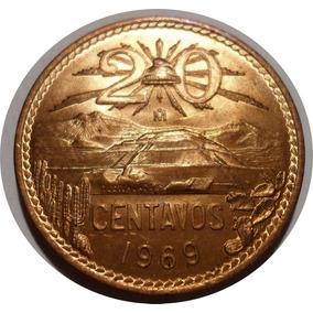20 Centavos 1969 Mo. Estados Unidos Mexicanos - Nueva