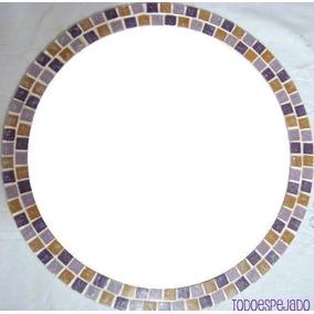 Espejo circular decorativo espejos con marco de for Espejo redondo con marco