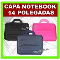 Capa Rígida C/ Alça Para Notebook 14 Polegadas Pasta Laptop