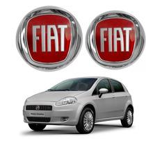 Jogo Emblema Original Fiat Punto Todos- Grade Tampa Traseira