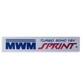 Emblema Motor Mwm Da Silverado 6cc Sprint Turbo Sohc 18v