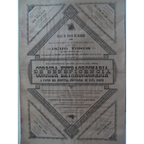 Cartel Taurino Antiguo De Tauromaquia Español 1892