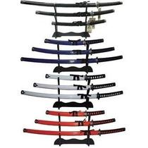 Set De 3 Katanas Samurai Con Base Nuevas Acero 440