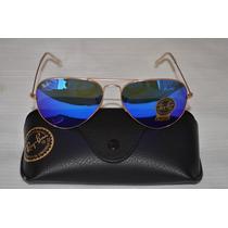 Ray Ban Aviator Gafas De Solrb3025 112/17 58/14mm Azulespejo