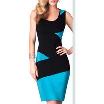 Sexy Top Vestido Silueta Contraste Shaper 71251 Vicky Form
