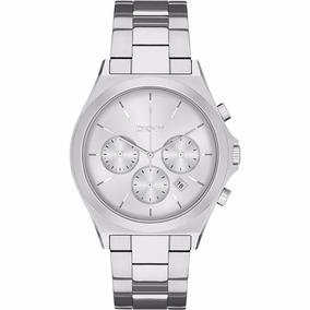 Reloj Dkny Para Hombre Ny2378 Plateado Cronogr Original