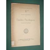Libro Estudios Psicologicos Felix Krueger Santa Fe 1939