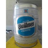 Cerveza Quilmes Barril De 5 Litros Vacío Con Las Carretas