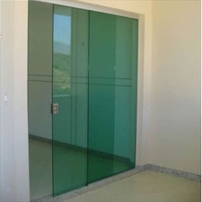 Porta Blindex Vidro Temperado Incolor 2,15 X 1,00 De Correr
