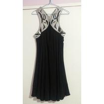 Vestido De Noche Tipo Coctel Negro Talla S Como Nuevo