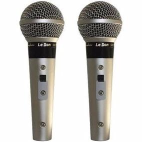 Kit - 2 Microfones Leson Sm58-p4 Ou Bk