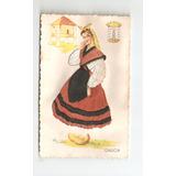 Postal De Galicia Bordada . Año 1950.
