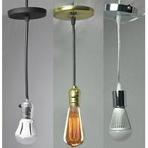 Lámpara Socket Foco Kit Completo Vintage Decoración Arquitec