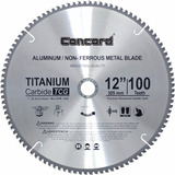 Disco De Corte Concord 12 Pulgadas 100 Dientes Aluminio