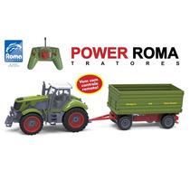 Trator Power Roma Carreta 1761 Controle Remoto- Frete Grátis
