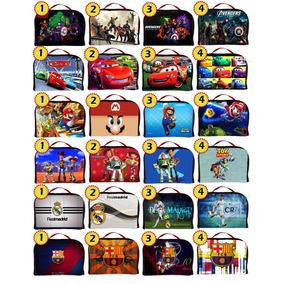 Loncheras Cars Mario Toys Real Madrid Barcelona Avengers