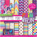 Kit Imprimible Pack Fondos My Little Pony Clipart 73