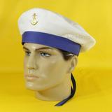 Quepe Marinheiro Fita Azul Frete Grátis Chapéu Boina Militar c638fbc97cd