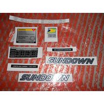 Adesivos Moto Web Evo Sundown Jogo Kit Informativo