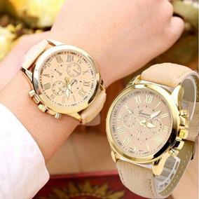 Relógios Quartz De Pulso Pulseira Pulseira De Couro