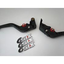 Palancas Cortas Ajustables Yamaha R6 2011 Negro Rojo