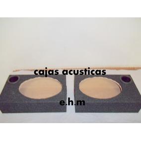 Cajas Para Parlantes De 6x9 Y 6,5 Pulg. Con Tubo Y Borneras