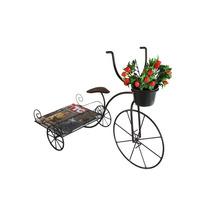 Bicicleta De Ferro Artesanal Rústica Porta Vaso E Revista