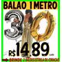 Balão Número Metalizado Gigante 1 Metro Prata Dourado Rosa
