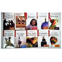 Paquete 10 Libros Gulliver Mago Oz Peter Pan Ana Frank 3