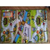 Carpeta Alfombra Infantil Pista 100 X 140 Calles Mod 5