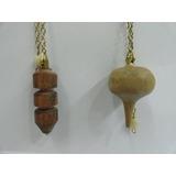 Pendulo Madera C/bronce
