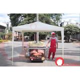 Carpa Toldo Exterior Para Negocio Pizza Arepas Hot Dog