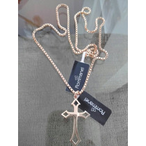 Rommanel Conjunto Masculino Cordão 60cm+crucifixo Folheado