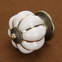 Puxador De Móveis Gaveta / Porta Em Cerâmica - Branco