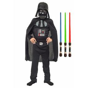 Disfraz Darth Vader Star Wars Original C Espada Luz Y Sonido