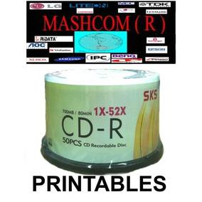 Cd Virgen Sks Imprimible 52x 700mb 80min X 50 Unidades