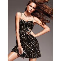 Vestido Corset Negro Glitter S Moda Int Victoria