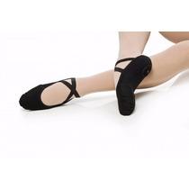 Sapatilha Ballet Jazz De Pano Tecido Lona Strecht Pluma